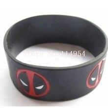 2004457c34c7 Nuevo 50 piezas Popular Deadpool pulsera de silicona pulseras para hombre  joyería de las mujeres de regalo accesorios de moda H-.