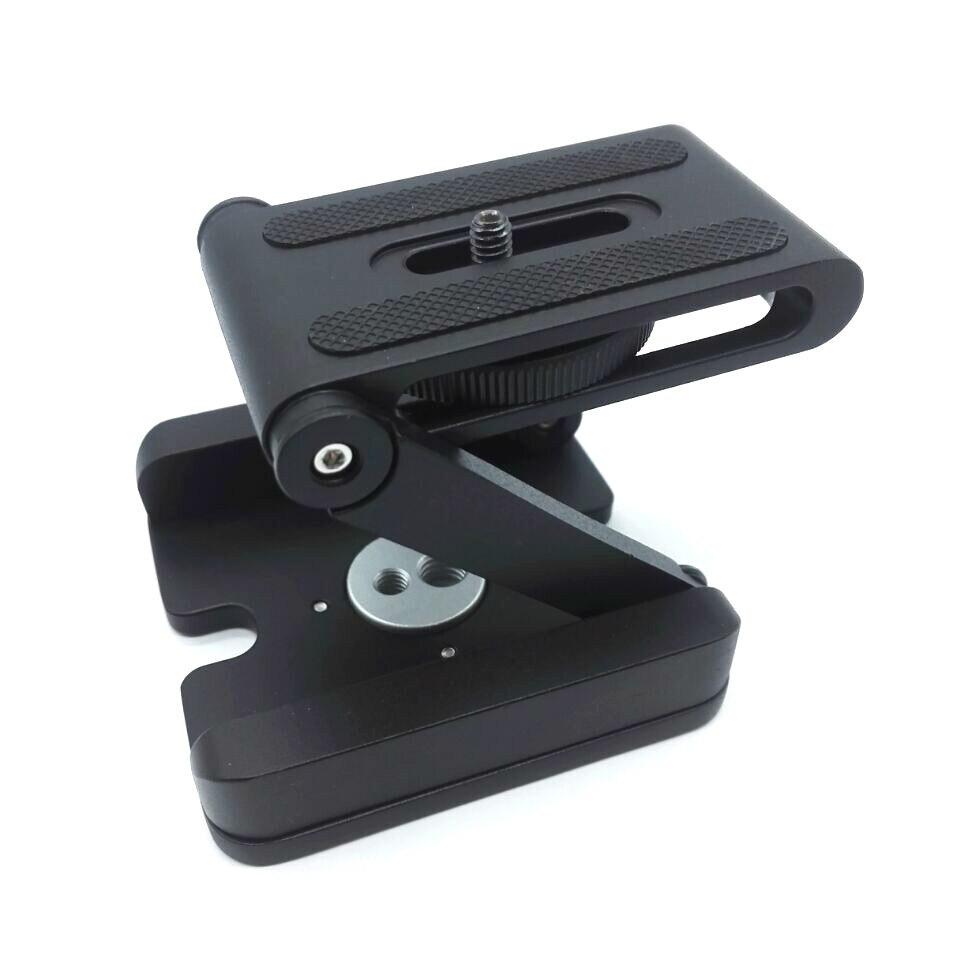 Z Flex Tilt cabezas de trípode DSLR plegable aluminio soporte Cámara soporte trípode de liberación rápida placa para Canon Nikon sony