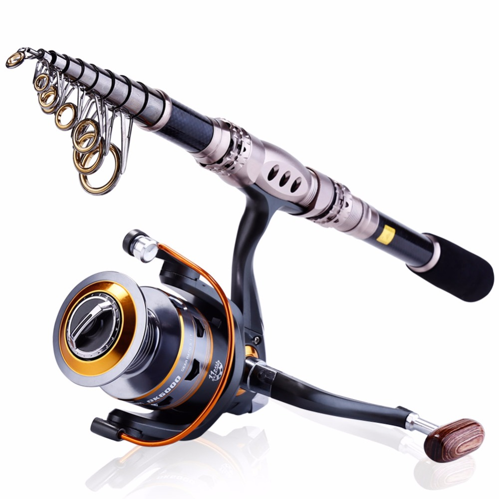 Travel portable spinning casting fishing rod and fishing for Saltwater fishing rod and reel combos