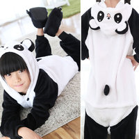 Kids Kigurumi Panda Pajamas Cosplay Flannel Animal Onesie Sleepwear Tiger Stitch Bear Unicorn Pokemon Pikachu Dinosaur