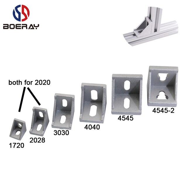 10 יחידות 4 יחידות 2 יחידות אלומיניום זווית סוגר משותף עבור T חריץ אלומיניום שחול פרופיל 2020/3030/ 4040/4545 סדרה