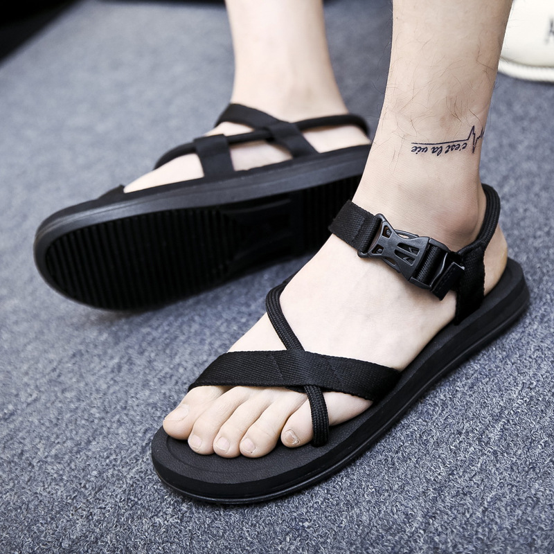 Fashion Man Beach Sandals 2018 Summer Gladiator Mens Outdoor Shoes Roman Men Casual Shoe Flip Flops Mens Leather Sandal
