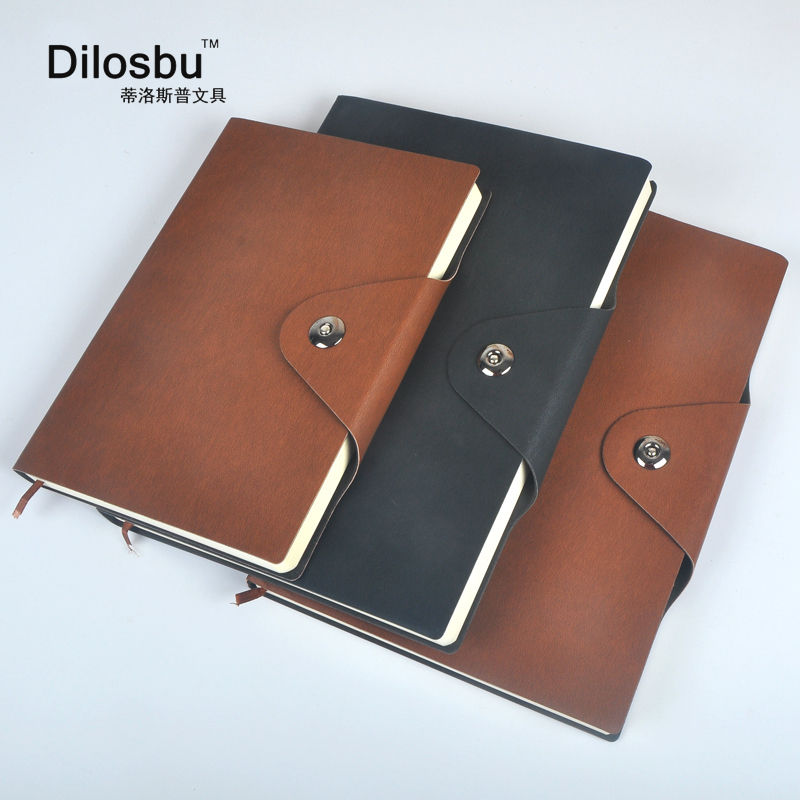 Dilosbu soft cover notebook A5 B5  lined paper notepad  With magnetic buckle for Business office planner journal stationery