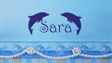 Custom Made Personalized Name Dolphin Ocean Vinyl Wall Sticker Kids Baby Bedroom  Decor Hone Decoration You Choose Name And Color