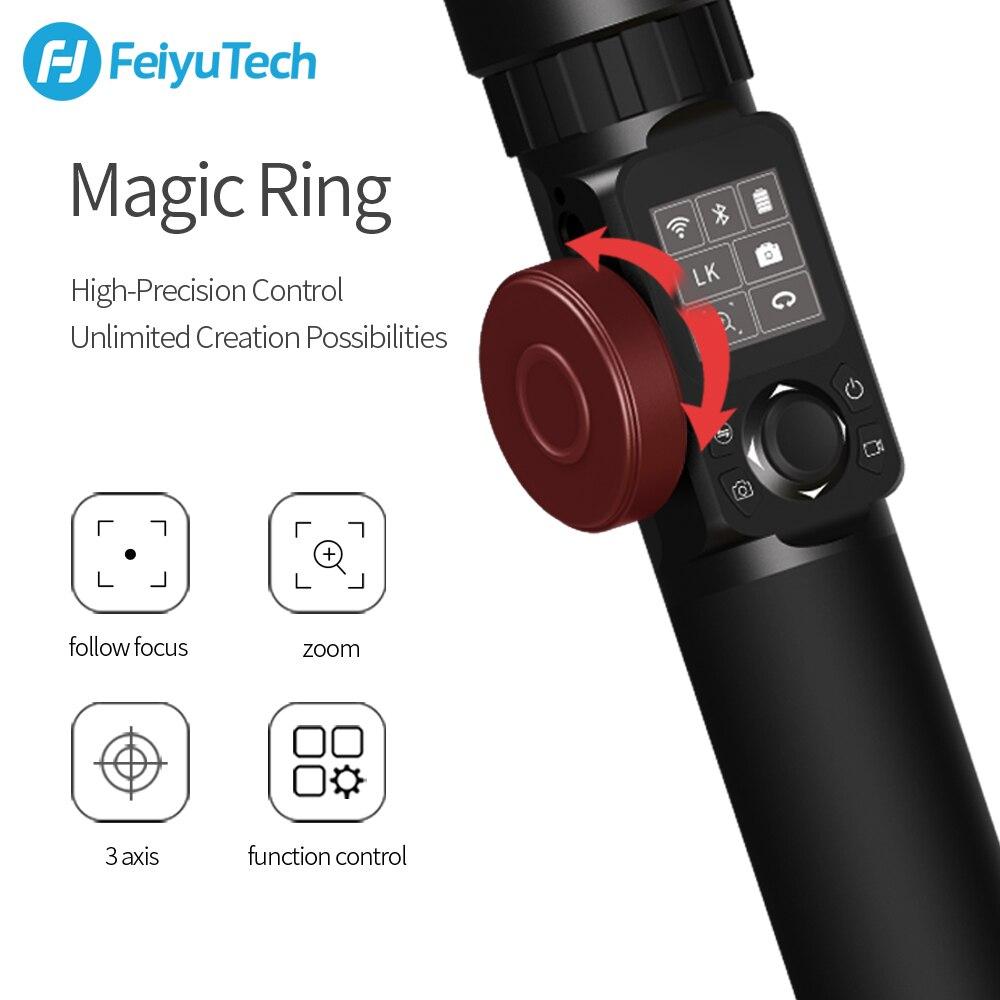 FeiyuTech AK2000 DSLR caméra stabilisateur cardan de poche avec bague de mise au point pour Sony Canon 5D Panasonic GH5 Nikon 5D 2.8 kg charge utile - 4