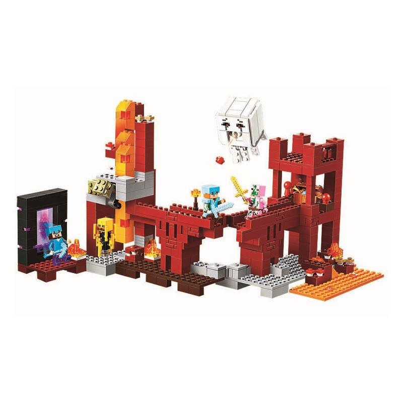цена на Pogo gifts Minecrafte My World Zombies Building Blocks Bricks Toys Compatible Legoe