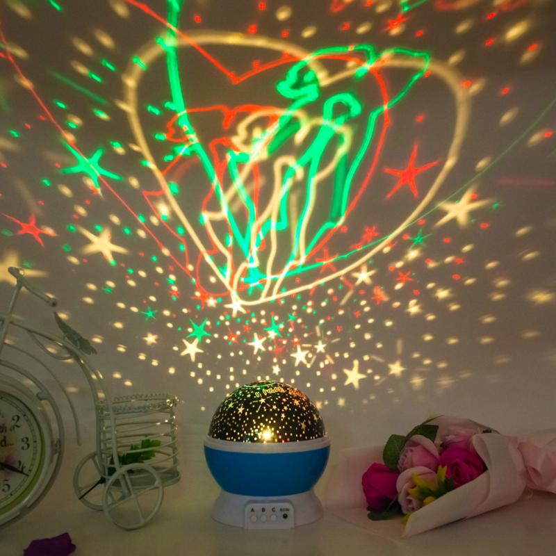 LED Rotating Music Universe Ocean Projector Luminous Indoor Lamps Novelty Lighting Rotation Battery USB Night Light For Gift
