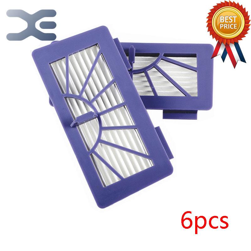 6Pcs Lot High Quality Vacuum Cleaner Parts Neato Sweeping Machine XV-21 XV-Signature Seepa Hepa Filter Accessories
