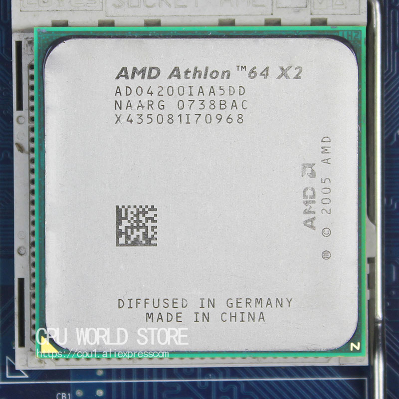 AMD Athlon 64 X2 4200+ CPU Processor 2.2Ghz/ 1M /1000GHz Socket am2 940 pin working