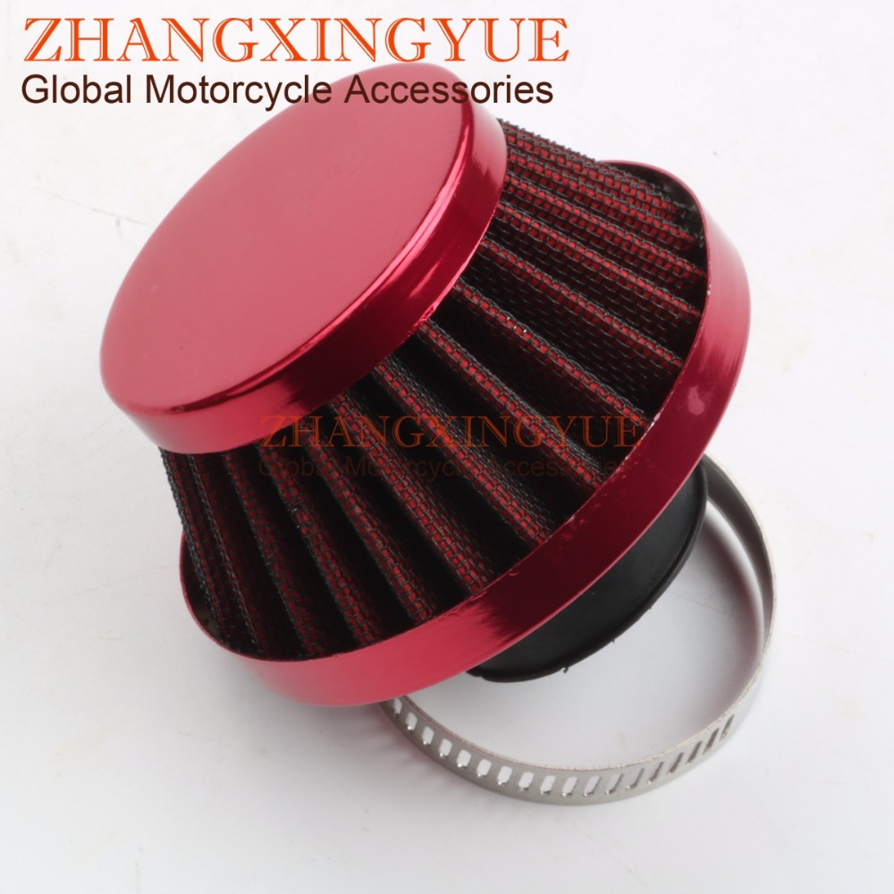Peugeot Vivacity 1 50 Red Free Flow Air Filter 45 Degree Angle