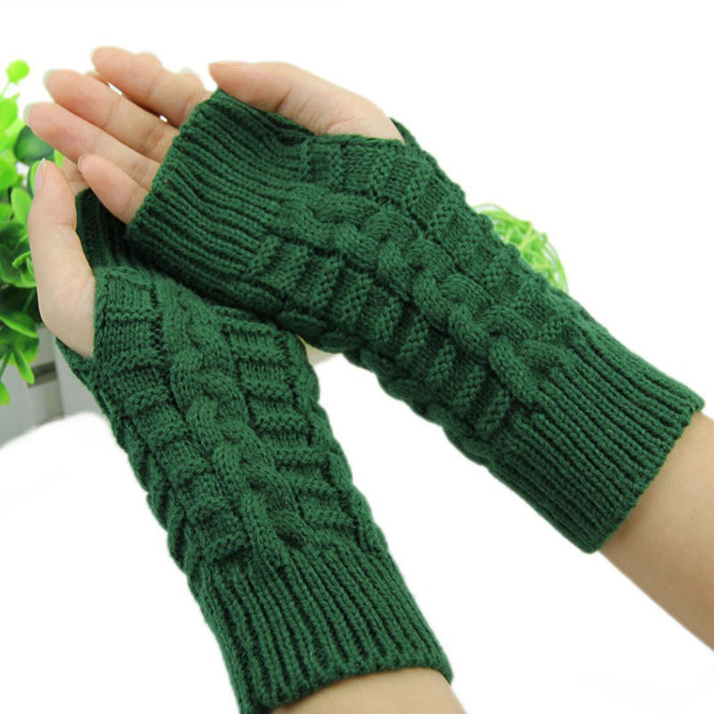 Invierno mujeres Guantes brazo de mano de ganchillo