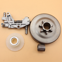 .325 7T Clutch Bell Oil Pump Worm Gear Kit For Chinese Chainsaw 4500 5200 5800 45cc 52cc 58cc цена