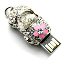 Jewelry Diamond Crystal Necklace 512 GB USB Flash Drive 128GB Memory Stick Pen Drive 64GB Pendrive 32GB USB Key 1TB 2TB Gift