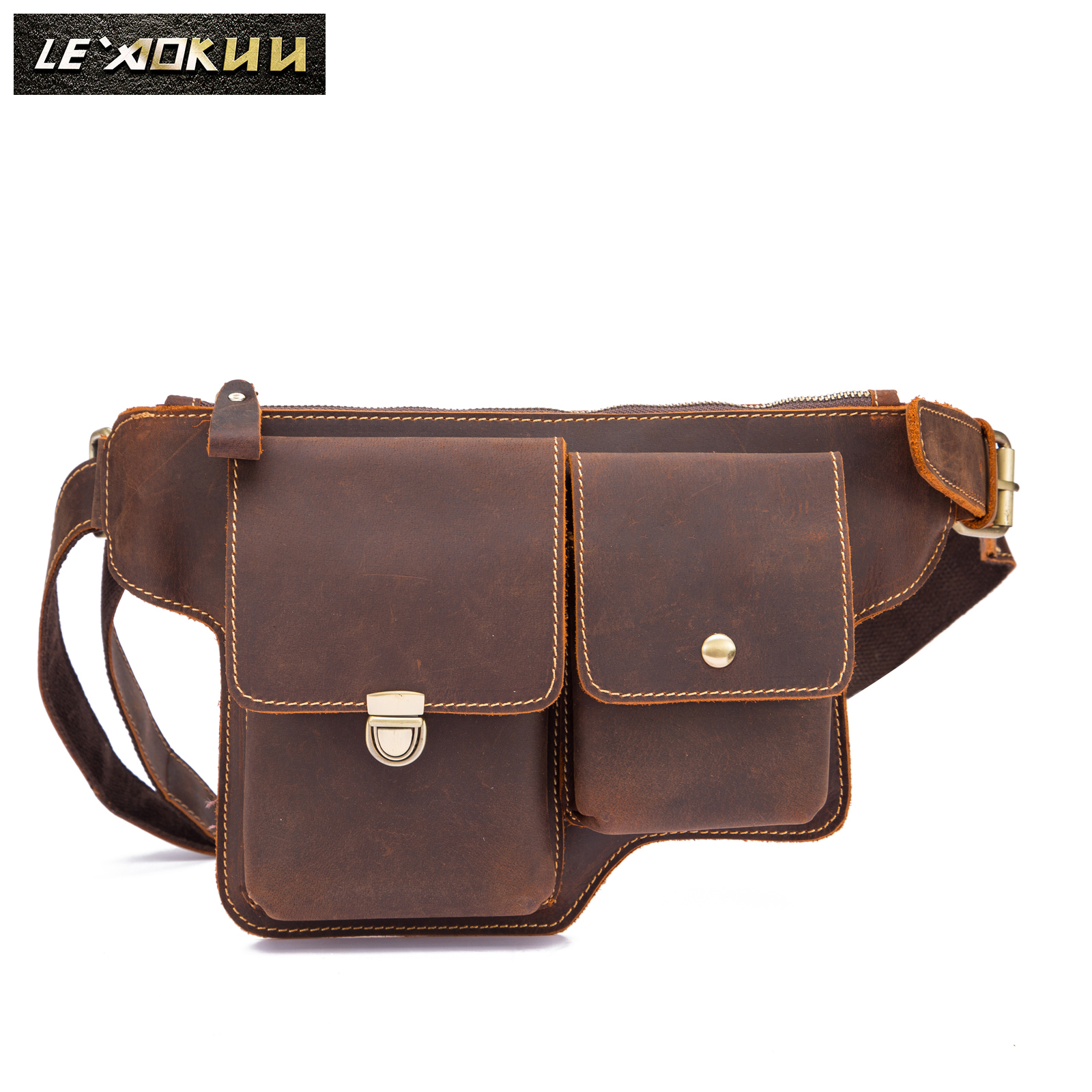 Fashion Original Leather Male Crossbody Sling Bag Design Casual Travel Phone Case Pouch Travel Fanny Waist Belt Bag Men 3015Fashion Original Leather Male Crossbody Sling Bag Design Casual Travel Phone Case Pouch Travel Fanny Waist Belt Bag Men 3015