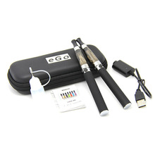Electronic Cigarette CE4 Double Starter Kits Zipper Carry Case 650mAh 900mAh 1100mAh 1300mah eGo Kit