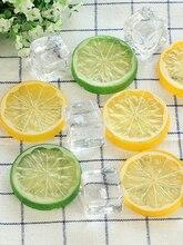 Simulation Lemon Slices Artificial Ice Cubes & Granule Photography Studio Props Desktop Shooting DIY Decoration Accessories