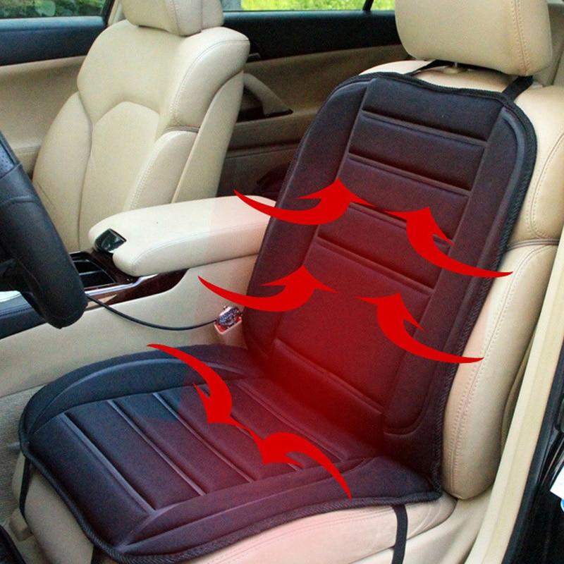 12V თბილი გამაცხელებელი მანქანის სავარძლების საფარი ბალიში, ელექტრო გათბობის მანქანის სავარძლები საფარი შავი, მანქანის სტილის ავტომატის სავარძლების გამაცხელებელი სავარძელი