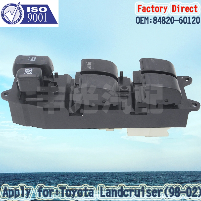 Factory Direct Auto Power Window Switch 84820-60120 Apply For Land Cruiser 100 Series 21Pins RHD Right Driver Side Switch