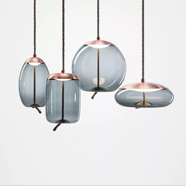 Scandinavian Nordic Living Room BROKIS Knot Pendant Lamp Bedside Tom Dixon Luminaria Deco Glass Lustre Hanging Light Fixtures