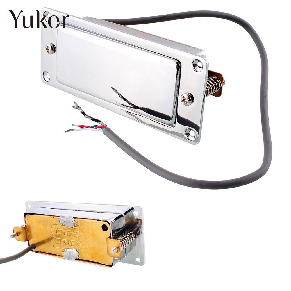 Yuker Hot Classic Vintage Tone Chrome Silver mini Guitar Humbucker Pickup sealed Pick up Music Repair Replacment niko 50pcs chrome single coil pickup screws