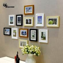 Family Wedding Photo Frame Set Wedding Couples Wall Hanging Picture Frame Collage Set Display Modern Wall Photo Frames(China)