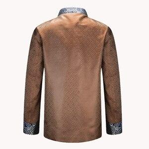 Image 4 - APEC Tang Takım Elbise Marka Yeni Mor Çin Geleneksel erkek Mandarin Yaka Lideri Kostüm Ceketler Coats M L XL XXL XXXL YZT1209