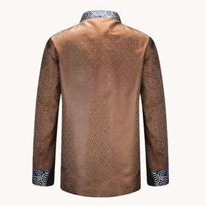 Image 4 - APEC טאנג חליפת חדש לגמרי סגול סיני מסורתי מנדרינית גברים צווארון מנהיג תלבושות מעילי מעילי M L XL XXL XXXL YZT1209