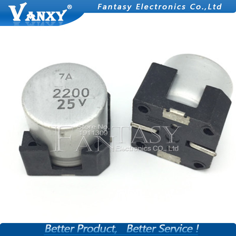 5PCS Electrolytic Capacitor 25V2200UF 16*16.5mm SMD Aluminum Electrolytic Capacitor 2200uf 25v