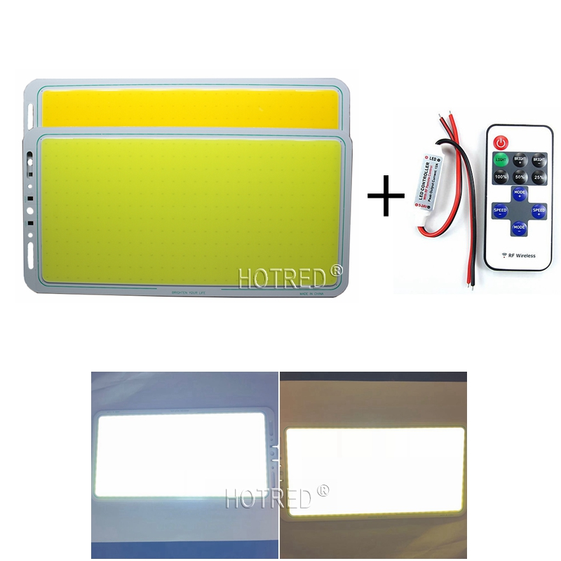 200W dimmable DC 12V led cob <font><b>220</b></font>*113mm outdoor multifunction light with wireless remote controller warm white COB LED strip image