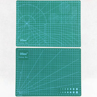 Green High Quality Design Multipurpose Builders Double Sided PVC Cutting Mat 22x30cm