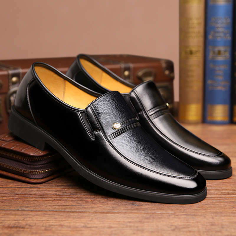 British Men Shoes Dress Vogue Large Yards Leather Shoes Men Top Formal  Banquet Leather Shoes Danc Male Flat Sneaker Dad shoe 096dd3eec8d7