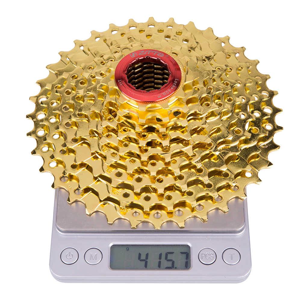 MTB горный велосипед Запчасти 9 s 36 т 27 s Скорость золото золотой выбеге кассета 11-36 т для Shimano M370 M430 M4000 M590 M3000 звезда для велосипеда