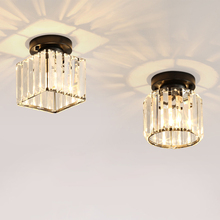 Современный светодиодный хрустальный круглый квадратный потолочный светильник E14 Lig люстры потолочный светильник shts украшение для гостиной