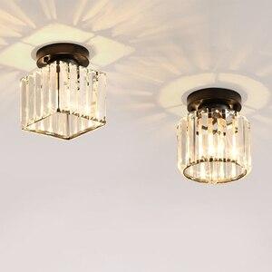 Image 1 - Plafonnier rond et carré, éclairage décoratif de plafond, éclairage décoratif de plafond, E14 Lig, collection cristal LED moderne