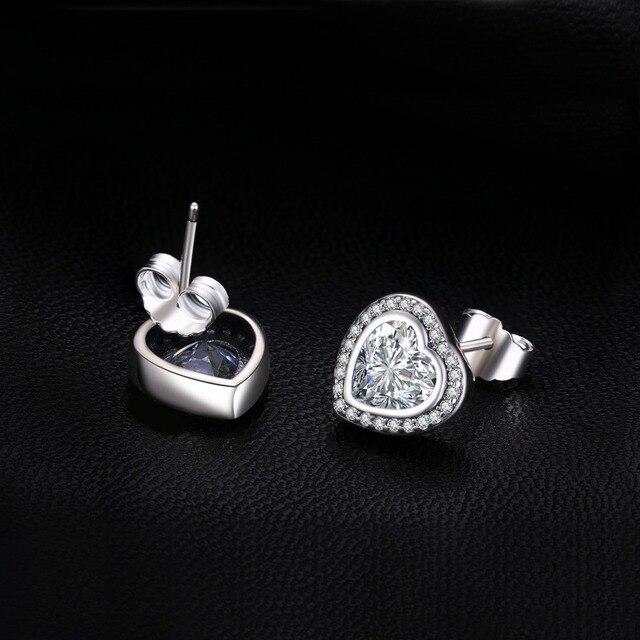 JewelryPalace 925 Sterling Silver Solo Viti Prigioniere Dell'orecchino Del Cuore 925 Gioielli In Argento Sterling Orecchino di Nozze per Le Donne Gioielleria Raffinata