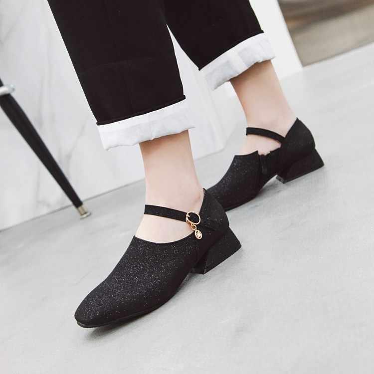 Große Größe 11 12 13 14 15 16 17 damen high heels frauen schuhe frau pumpen Paket zehen Cingulum Starke mit Einzelnen schuhe