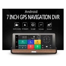 Newst!! Android 7″ Touch Screen CAR DVR dual lens camera Rear view car camera full hd 1080p dash cam Wifi GPS Navigator dashcam