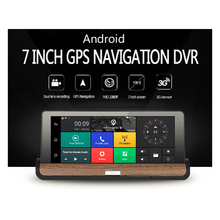 Buy Newst!! Android 7″ Touch Screen CAR DVR dual lens camera Rear view car camera full hd 1080p dash cam Wifi GPS Navigator dashcam