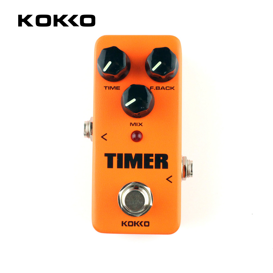 KOKKO FDD2 Timer Delay Electric Guitar Pedal de Alta Calidad Portatil Guitarra Effects For Musical Instruments Parts Accessories free shipping electric amp effects pedal simulator distortion and cabinet of a guitar accessories amplifier musical instruments