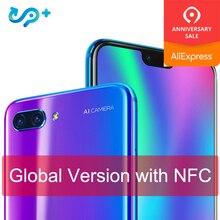 Orijinal Küresel sürüm Huawei Onur 10 4G 128G 4G LTE akıllı telefon 3D Kavisli Cam Kirin 970 AI Işlemci 5.8 inç Google oyun
