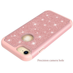 2018 for Apple iPhone8 Plus Case iPhone 8 Plus A1898 a1899 a1864 for iPhone8 iPhone 8 A1906 a1907 2 in 1 PC + TPU Glitter Cover 4