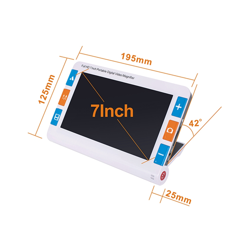 7 Inch Lcd Portable Magnifier Low Vision Video Magnifier Electronic Reading Aid Digital Handheld Magnifier 2X To 48X Ys700 Us in Display Screen from Consumer Electronics