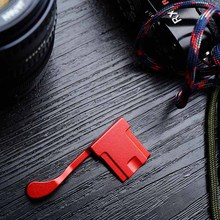 лучшая цена Custom Red Aluminum Thumb UP Thumb Rest Thumb Grip For Fuji X100F FUJIFILM X100F Metal Hot Shoe Cover