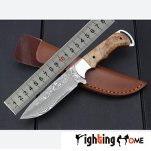 Rosewood+Copper Handle Mini Damascus Steel Folding Knife,Small Hunting Survival Knives,Multi Tools,Best Quality