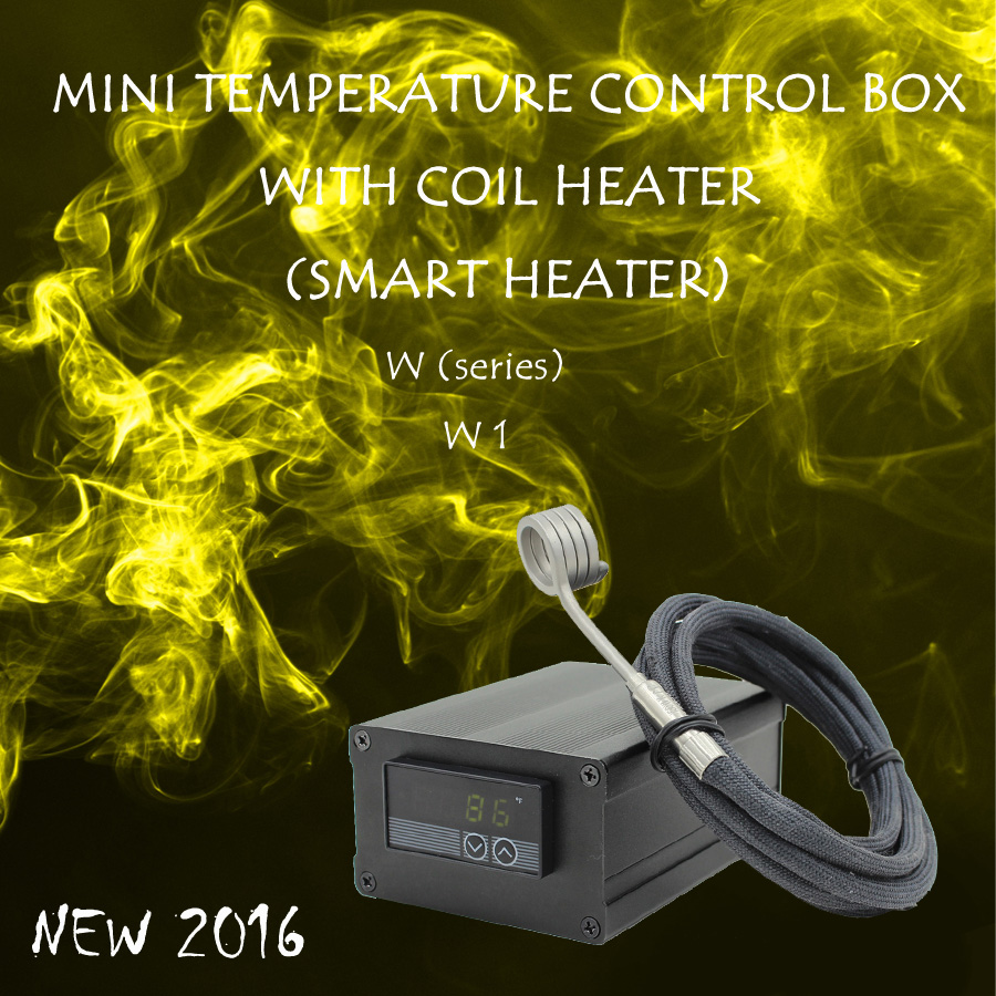 (NEW 2016 ,W1 ,GREEN) MINI TEMPERATURE CONTROL BOX WITH NAIL COIL HEATER, HOT RUNNER COIL HEATER NAIL ,DIRECT MANUFACTURER! new 2016 w2 white mini temperature control box nail coil heater titanium nail electronic cigarette