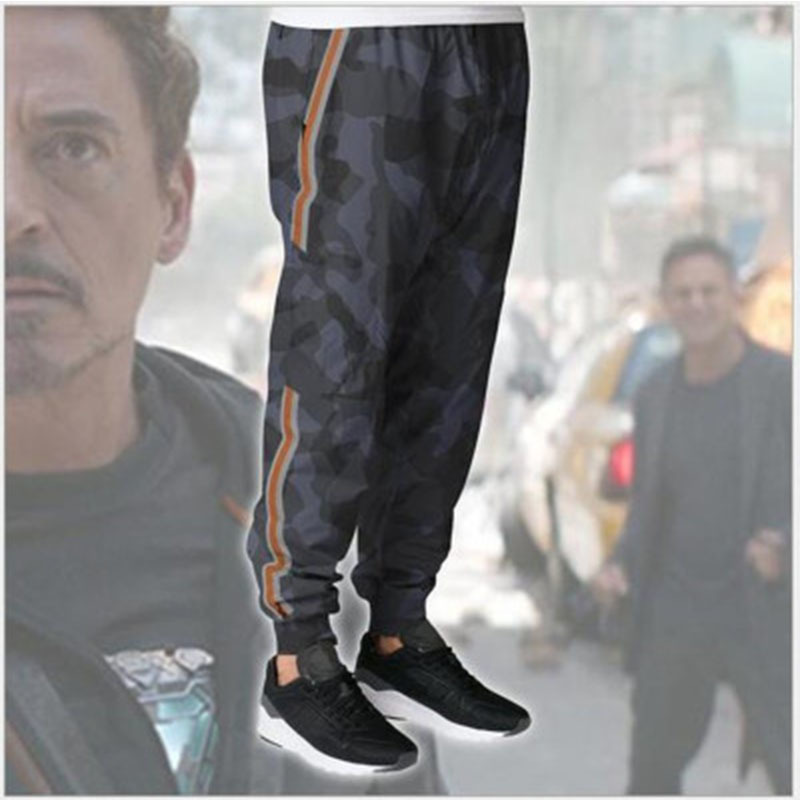 Iron Man Mens Pants for Avengers Iron Man Tony Stark Cosplay Drawstring Full Length Pants Trousers Costumes