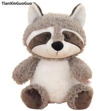 cute gray raccoon plush toy large 50cm cartoon raccoon soft doll throw pillow birthday gift s0884