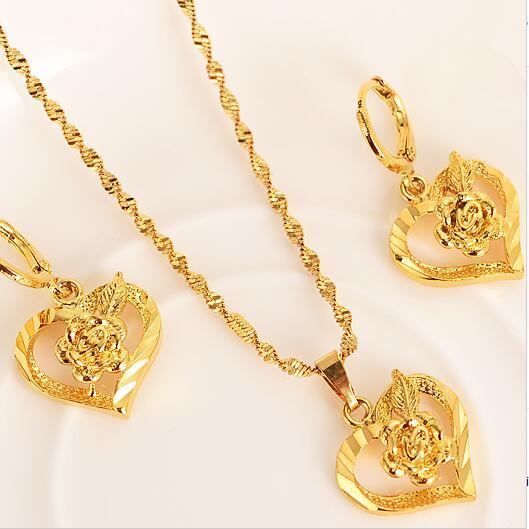 Fashion Women 925 Sterling Silver Clover Pendant Earrings Necklace Jewelry Set K