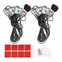 2×24 LEDs Bright White Car Reading Light Auto Roof Light Kit for RV Van Boat Trailer Decorative Lamp SMD5730 DC12V Car Styling