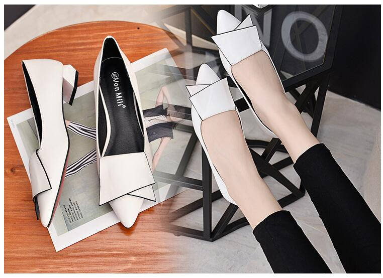 18 Leather Flat Shoes pointed toe With low Woman Loafers Cowhide Spring Casual Shoes Women Flats Women Shoes B222 22